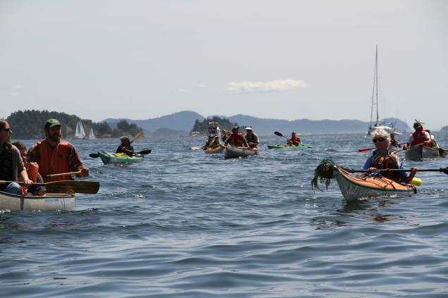 Flotilla to protect Grace Islet, an endangered indigenous burial ground in Ganges Harbour off Saltspring Island. People power for the Salish Sea!